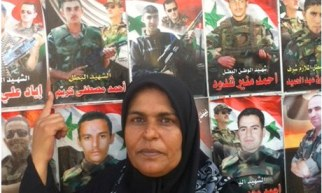 Martyrs Wall in Tartous and Aisha Shahada