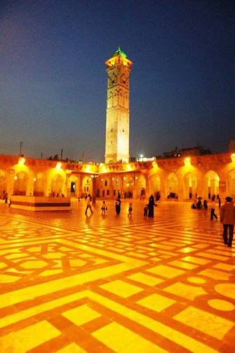 The grand mosque before 'the arab Spring' - Aleppo , Syria.