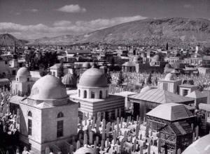 Het mooie Damascus in Syrië in 1940.
