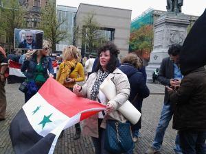 Manifestatie voor Kesab in Den Haag in Nederland vandaag.