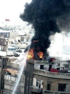 Reeds 16 mortiergranaten werden vandaag door terroristen afgevuurd op Damascus. De voorlopige balans: drie doden en minstens 26 gewonden, volgens Dr. Ahmad al-Issa. ( https://twitter.com/ahmadalissa )