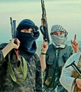 Nederlandse jihadisten op het platteland van Aleppo in 2014.