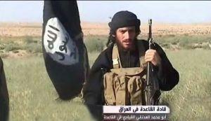 Abu Muhammad al-Adnani, de woordvoerder van de 'Islamitische Staat van Irak en Sham' (ISIS).