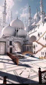 Een schitterende moskee in Pakistan.