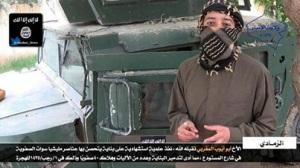 Martelaarsoperatie van een Marokkaanse mujaheed van Isis.Abu Ayoub al Maghribi luet een truck exloperen in Anbar Iraq en dode daarmee 40 Swat leden (iraakse elite troepen) en vernietigde 7 militaire voertuigen.