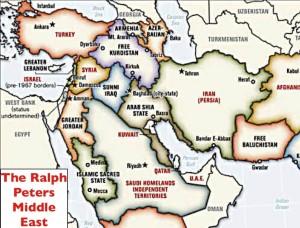 De Blood Borders kaart hertekent het Midden Oosten