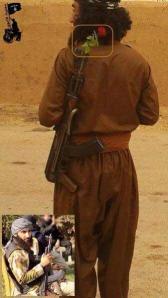 Abu Khatab, een Koerdische strijder van de Islamitische Staat (IS) uit Halabja in Iraaks Koerdistan, leidt het offensief tegen de Syrische stad Ayn al-Arab (Kobani).